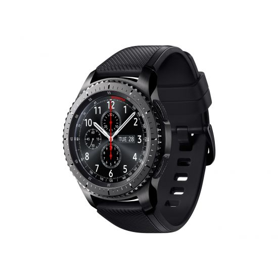 Samsung Gear S3 Frontier - sort - smart ur med bånd - sort - 4 GB