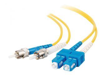 C2G SC-ST 9/125 OS1 Duplex Singlemode PVC Fiber Optic Cable (LSZH)