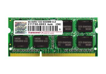 Transcend &#45 8GB &#45 DDR3 &#45 1333MHz &#45 SO DIMM 204-PIN