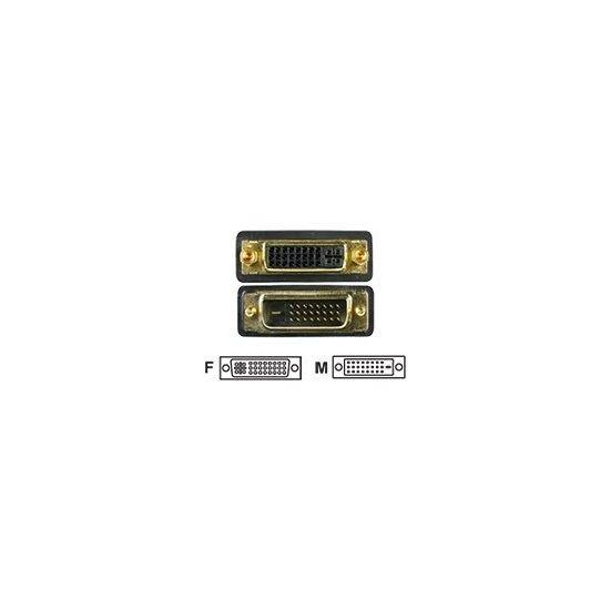 Deltaco DVI forlængerkabel - 2 m