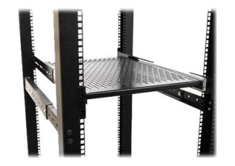 StarTech.com 2U Adjustable Mount Depth Sliding Rack Mount Shelf 50lbs/23kg