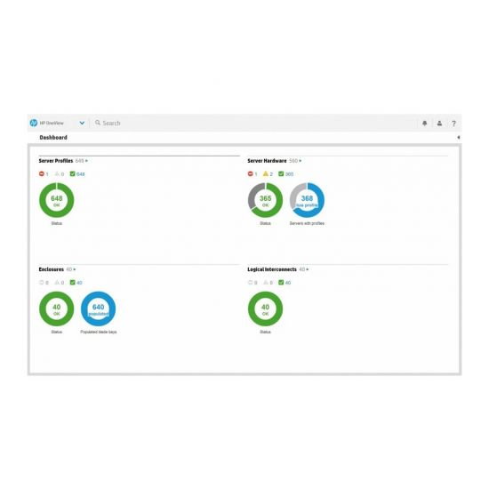 HPE OneView without iLO Advanced Tracking License - licens + 3 år 24x7 support - 1 server