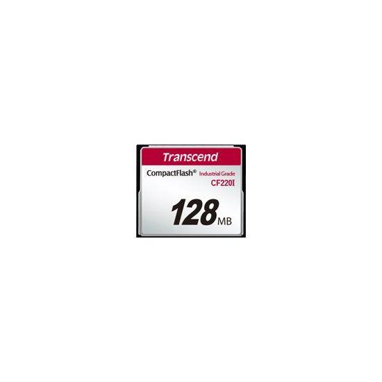 Transcend CF220I Industrial Temp - flashhukommelseskort - 128 MB - CompactFlash
