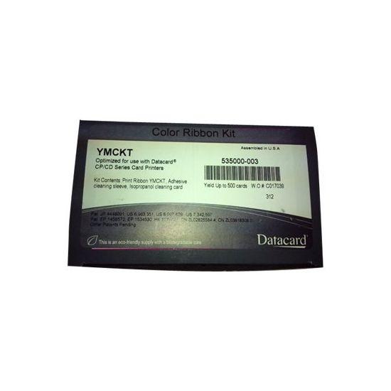 Datacard YMCKT - 1 - farve (cyan, magenta, gul) - print-bånd