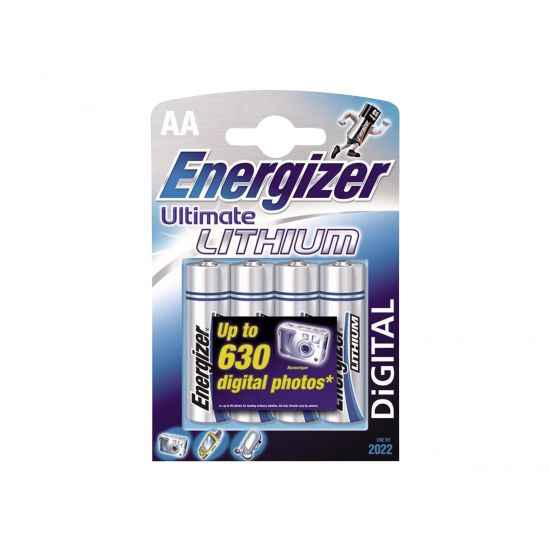 Energizer Ultimate Lithium - Batteri 4x AA