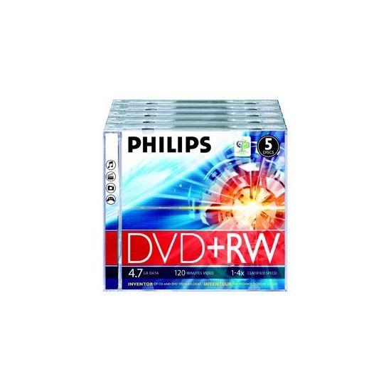 Philips DW4S4J05F - DVD+RW x 5 - 4.7 GB - lagringsmedie