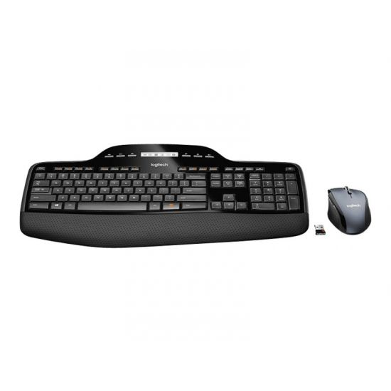 Logitech Wireless Desktop MK710 - tastatur og mus-sæt - Nordisk