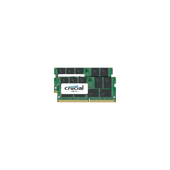 Crucial &#45 32GB: 2x16GB &#45 DDR4 &#45 2400MHz &#45 SO DIMM 260-PIN - ECC - CL17