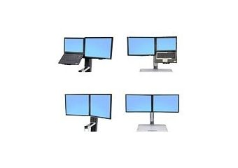 Ergotron WorkFit Convert-to-Dual Kit from LCD & Laptop, for WorkFit-S or WorkFit-C