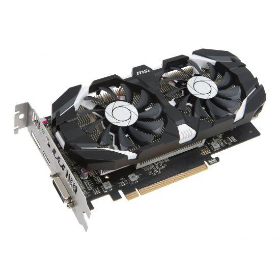 MSI GeForce GTX 1050TI 4GT OC grafikkort - 4GB