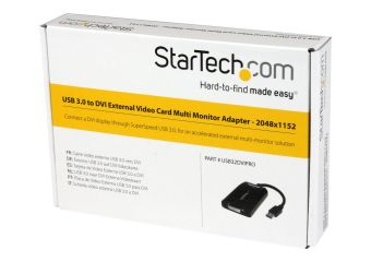 StarTech.com USB 3.0 to DVI External Video Card Multi Monitor Adapter ekstern videoadapter