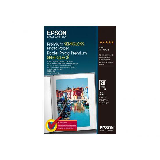 Epson Premium Semigloss Photo Paper - fotopapir - 20 ark - A4