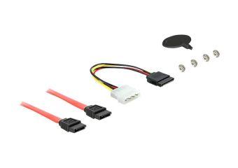 DeLOCK 5.25 Mobile Rack for 1 x 2.5 + 1 x 3.5 SATA HDD + 2 x USB 3.0 Ports