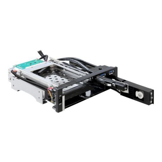 DeLOCK 5.25 Mobile Rack for 1 x 2.5 + 1 x 3.5 SATA HDD + 2 x USB 3.0 Ports