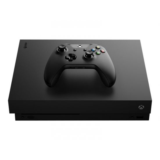 Microsoft Xbox One X - Spilkonsol - 1 TB HDD - sort