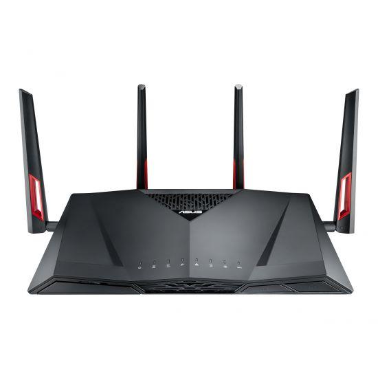 ASUS RT-AC88U - trådløs router - 802.11a/b/g/n/ac - desktop