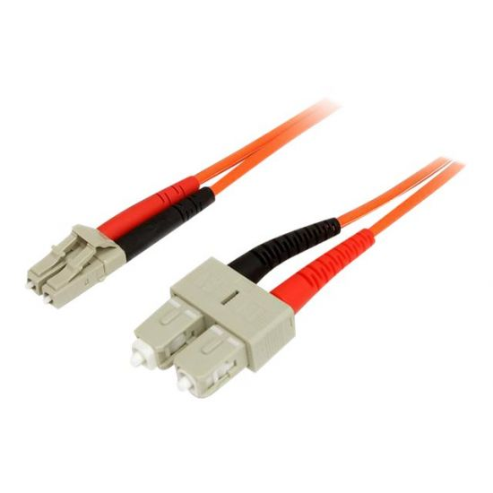 StarTech.com 3m Fiber Optic Cable - Multimode Duplex 50/125 - LSZH - LC/SC - netværkskabel - 3 m