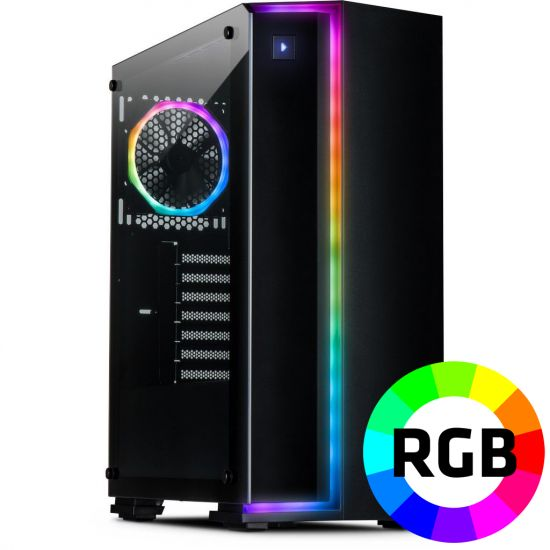 Føniks Intel i5/RTX2060 Gamer Computer - Intel i5 9400F - 16GB DDR4 - Nvidia RTX 2060 6GB - 480GB SSD - Uden Windows