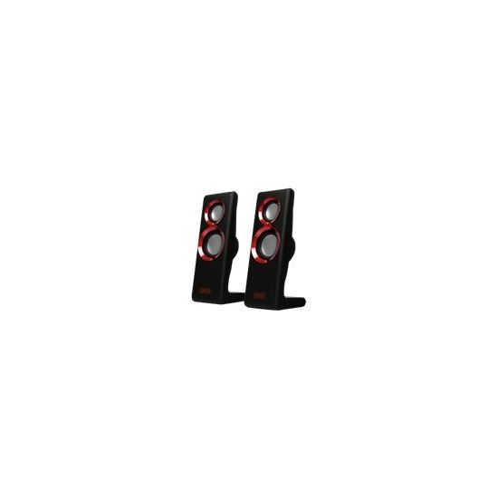 Sweex 2.0 Speaker Set Purephonic 20 Watt Red USB - højttalere - til transportabel brug