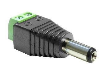 DeLOCK Adapter DC 2.1 x 5.5 mm male > Terminal Block