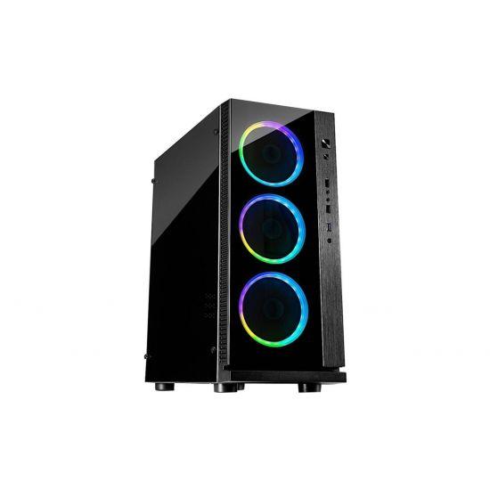 Inter-Tech Case ATX Midi W-III RGB Kabinet