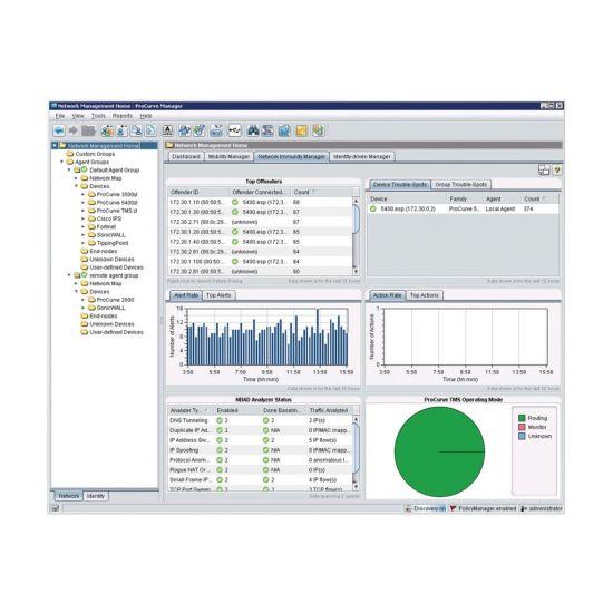 HPE ProCurve Network Immunity Manager (v. 2) - licens - ubegrænset antal enheder