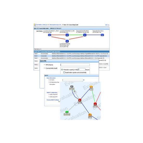 Intelligent Management Center MPLS VPN Manager (MVM) - licens - 50 netværksenheder