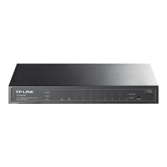 TP-LINK TL-SG2210P 8-Port Gigabit Smart PoE Switch with 2 SFP Slots - switch - 8 porte - Administreret