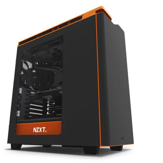 NZXT H440W New Edition Silent Ultra - Black/Orange Window