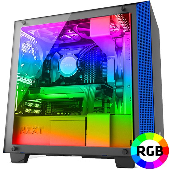 Føniks Value RGB Gamer Computer - Intel i5 9400F - 16GB RGB DDR4 - GTX1660 6GB - 480GB SSD - Vandkøler RGB - Uden Windows