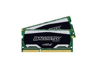 Ballistix Sport &#45 8GB: 2x4GB &#45 DDR3L &#45 1600MHz &#45 SO DIMM 204-PIN