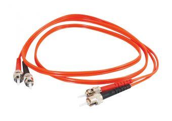 C2G ST-ST 62.5/125 OM1 Duplex Multimode PVC Fiber Optic Cable (LSZH)
