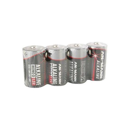 ANSMANN Mono D - batteri - LR20 - Alkalisk x 4