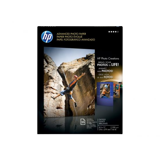 HP Advanced Photo Paper - fotopapir - 25 ark - Letter - 210 g/m²