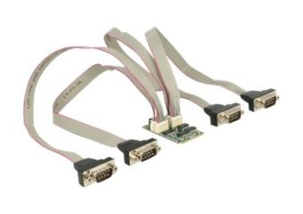 DeLock MiniPCIe I/O PCIe full size 4 x Serial RS-232 with Voltage Supply