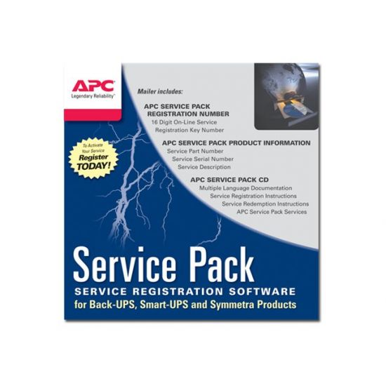 APC Extended Warranty (Renewal or High Volume) - support opgradering - 1 år