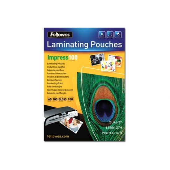 Fellowes Laminating Pouches Impress 100 Micron - 100-pakke - blank - A5 - laminerings poser