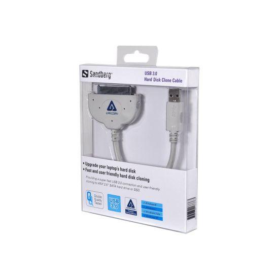 Sandberg USB 3.0 Hard Disk Clone Cable - lagringskontrol - SATA 3Gb/s - USB 3.0