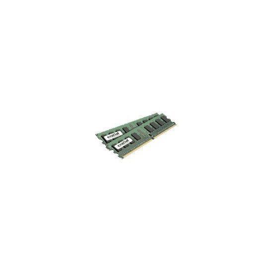 Crucial &#45 2GB: 2x1GB &#45 DDR2 &#45 800MHz &#45 DIMM 240-pin
