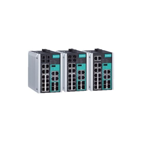 Moxa EtherDevice Switch EDS-518E-MM-ST-4GTXSFP - switch - 18 porte - Administreret