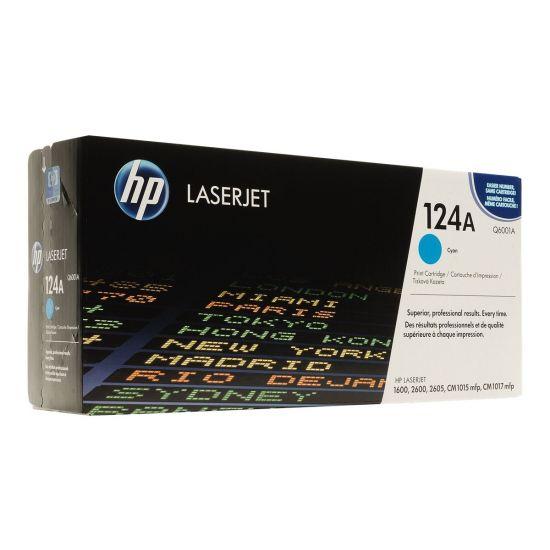 HP 124A - cyan - original - LaserJet - tonerpatron (Q6001A)