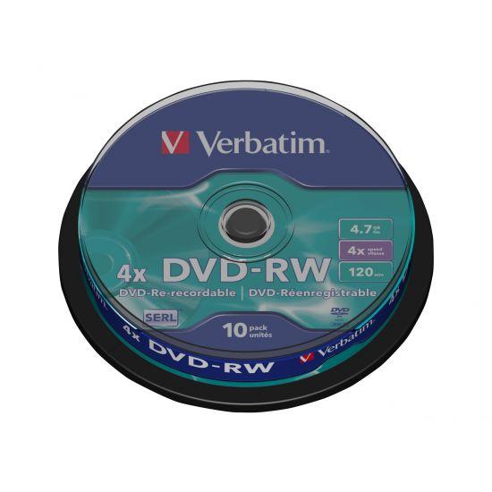 Verbatim DataLifePlus - DVD-RW x 10 - 4.7 GB - lagringsmedie