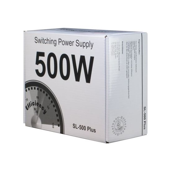 Inter-Tech SL-500 Plus &#45 strømforsyning &#45 500W