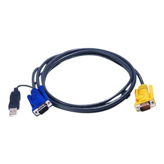 ATEN 2L-5202UP - kabel til tastatur / video / mus (KVM) - 1.8 m