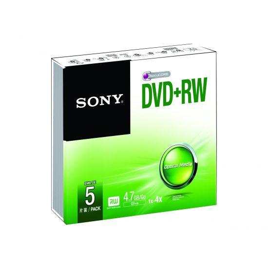 Sony 5DPW47SS - DVD+RW x 5 - 4.7 GB - lagringsmedie