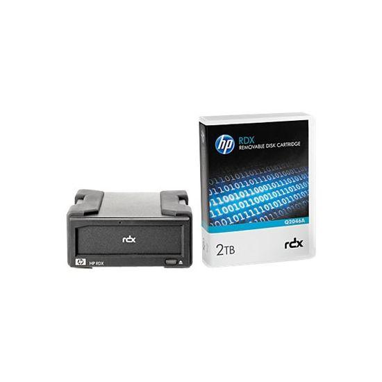 HPE RDX Removable Disk Backup System - RDX drev - SuperSpeed USB 3.0 - ekstern - med 2 TB kassette