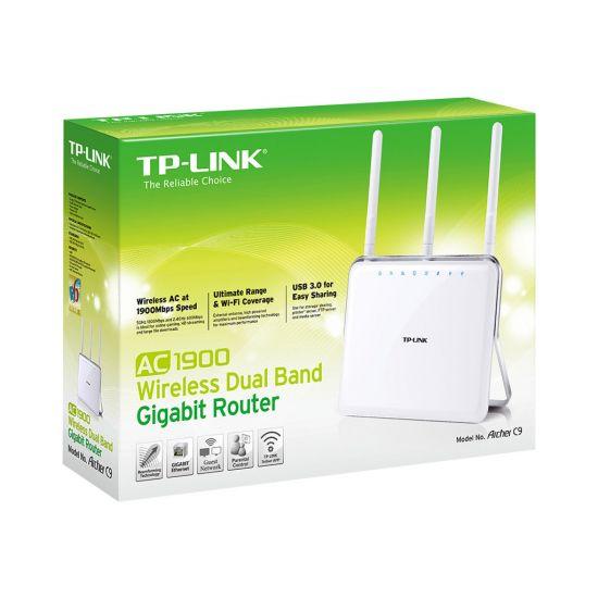 TP-LINK ARCHER C9 AC1900 - trådløs router - 802.11a/b/g/n/ac - desktop