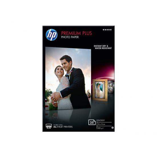 HP Premium Plus Photo Paper - fotopapir - 25 ark - 100 x 150 mm - 300 g/m²