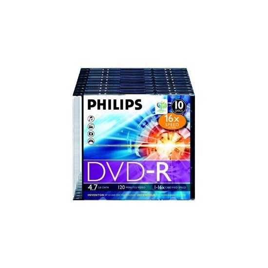 Philips DM4S6S10F - DVD-R x 10 - 4.7 GB - lagringsmedie