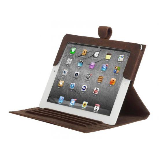 D. Bramante 9.7´´ Folio til iPad 2, 3 og 4 i Jægerbrun Læder
